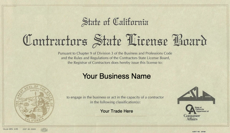 How To Get A Contractors License California Contractors