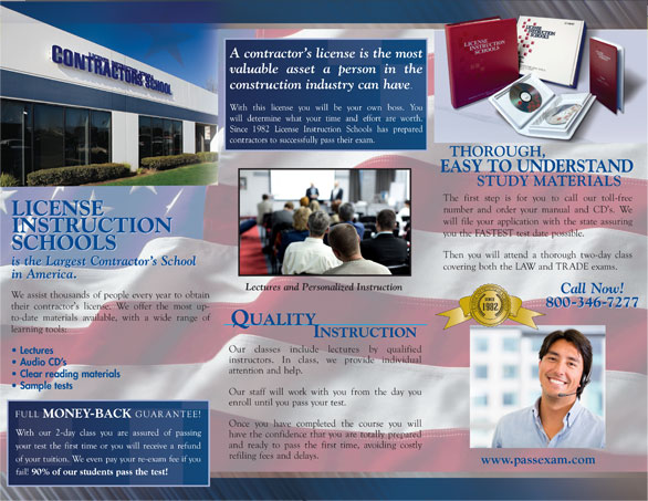 Send Me A Brochure California Contractors License School